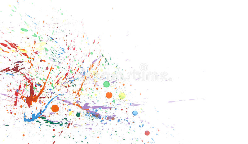 Colorful abstract background with water color splash on paper stock photos