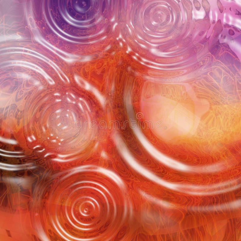 Colorful abstract background with water drops. Hot warm colors. A colorful background with a few drops of water that reflect many colors. Warm, bright colors royalty free stock photography