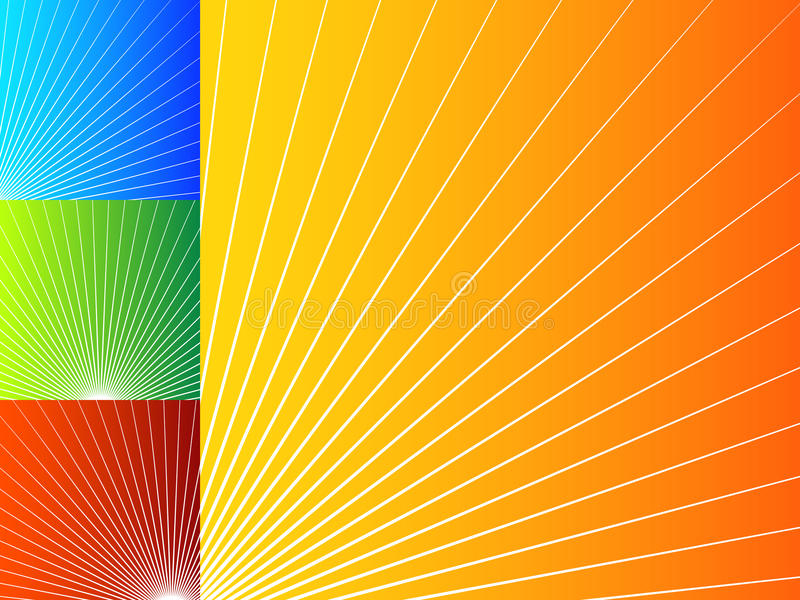 Colorful abstract backgrounds with radial lines. vector illustration