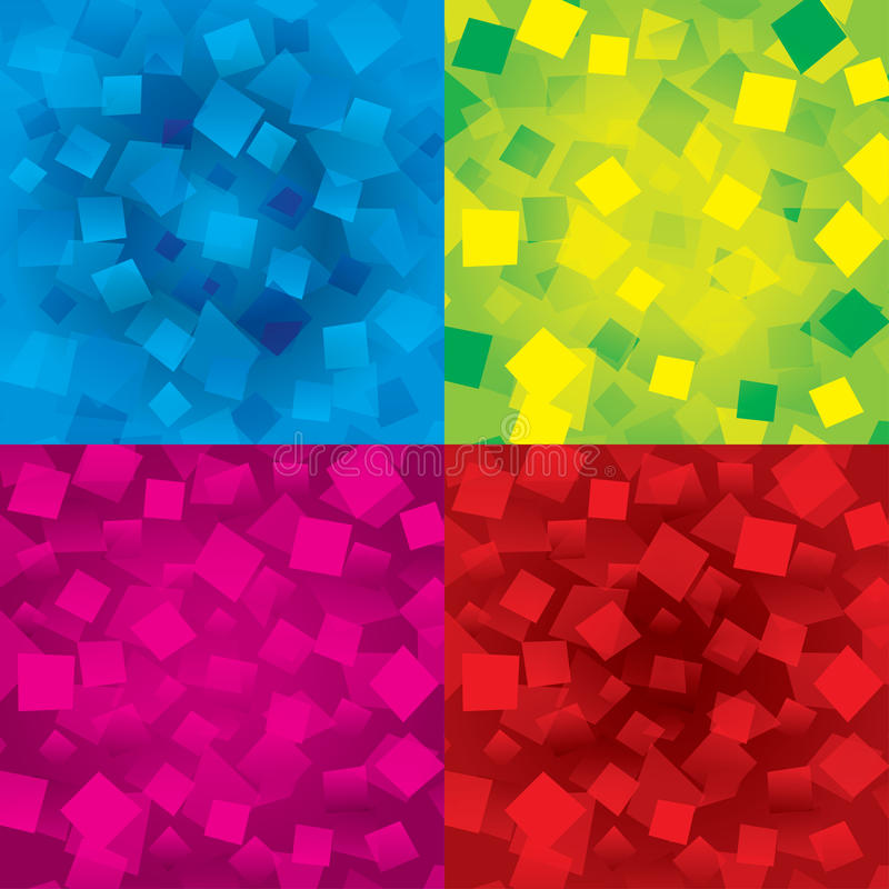 Download Colorful Abstract Backgrounds Set With Rectangles Royalty Free Stock Photography - Image: 29264427