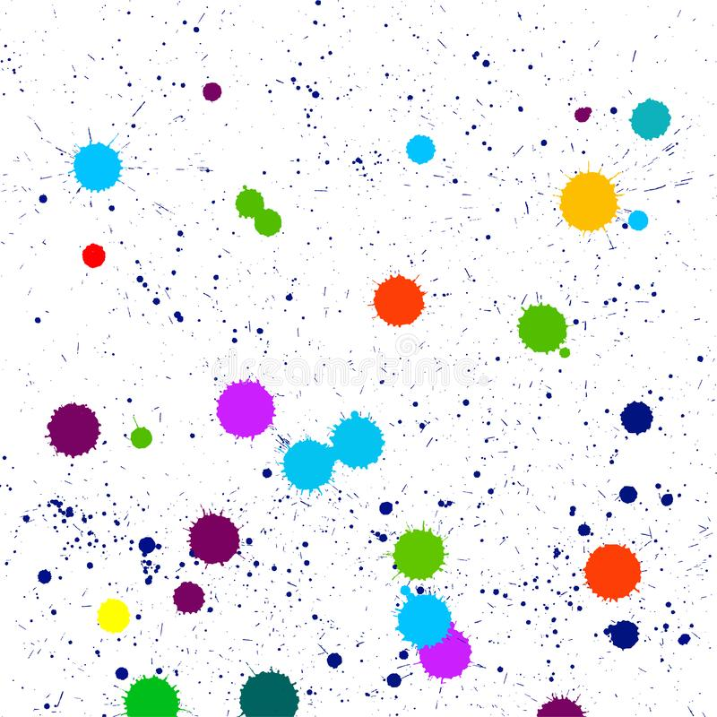 Colorful abstract blot of dots, vector. Colorful abstract blot of dots, vector illustration. Color brush splat on white background - vector stock illustration