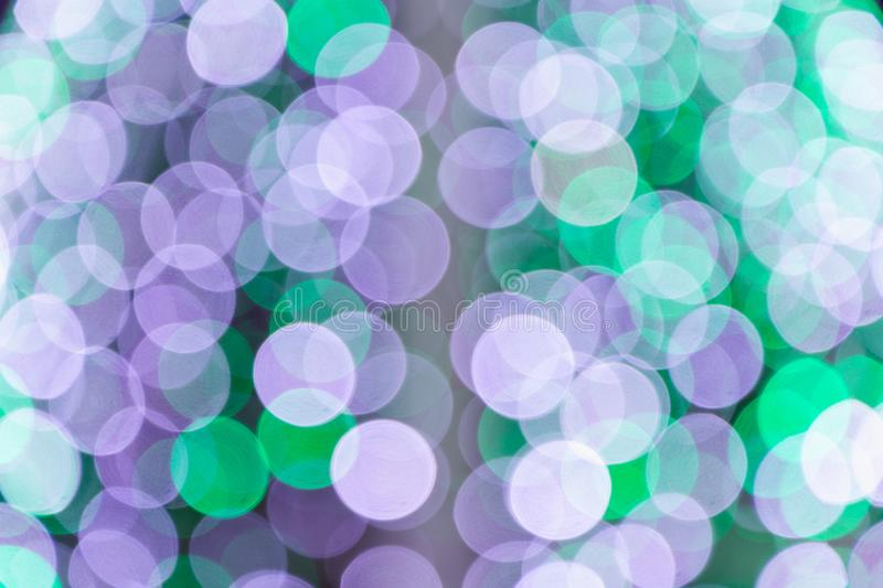 Colorful abstract blurred circular bokeh light of night city street for background. graphic design and website template royalty free stock images