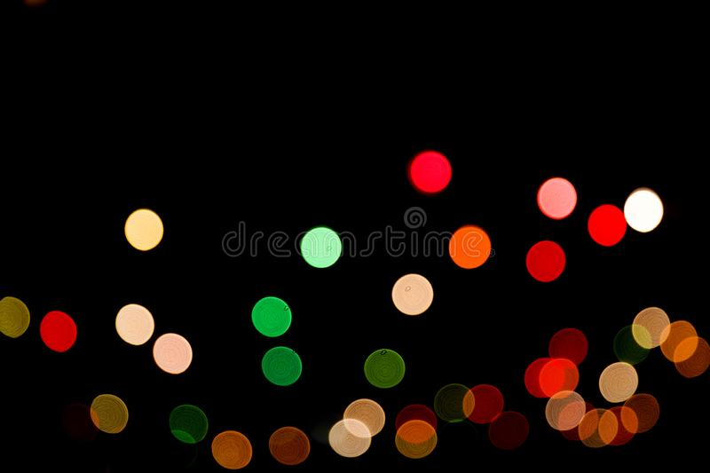 Colorful abstract bokeh lights Christmas background for your design. Colorful abstract bokeh lights Christmas background. Festive concept. Place for design royalty free stock image