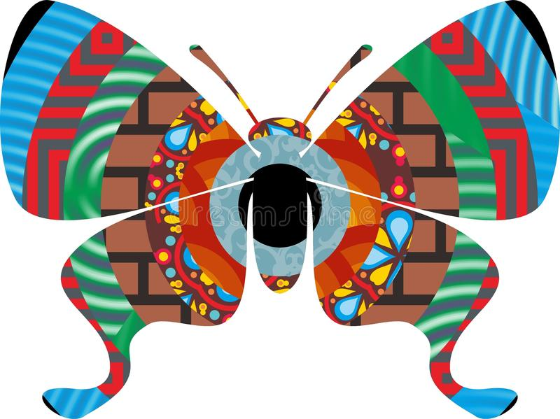 A colorful abstract butterfly stock illustration