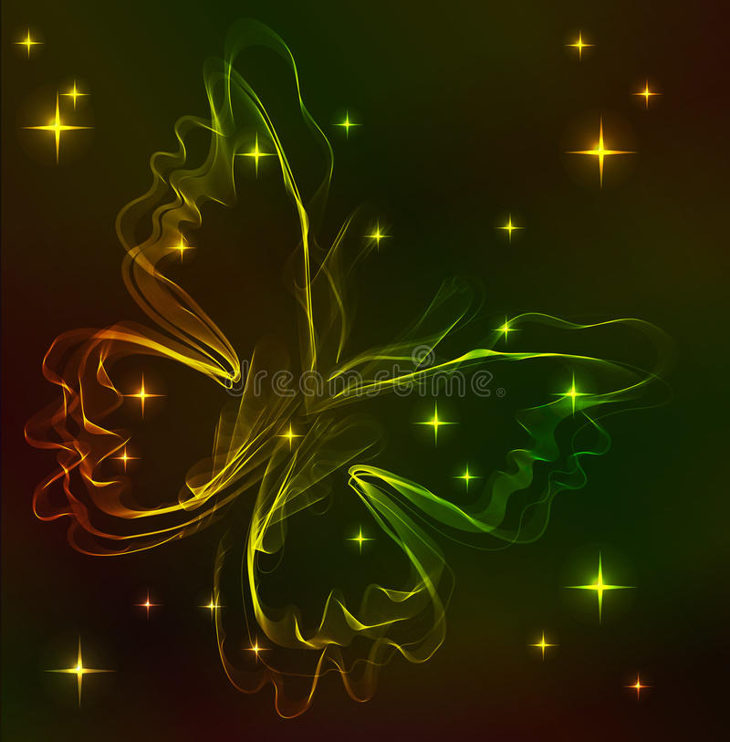 Download Colorful Abstract Butterfly Over Dark Stock Vector - Illustration of decor, graphic: 22688869