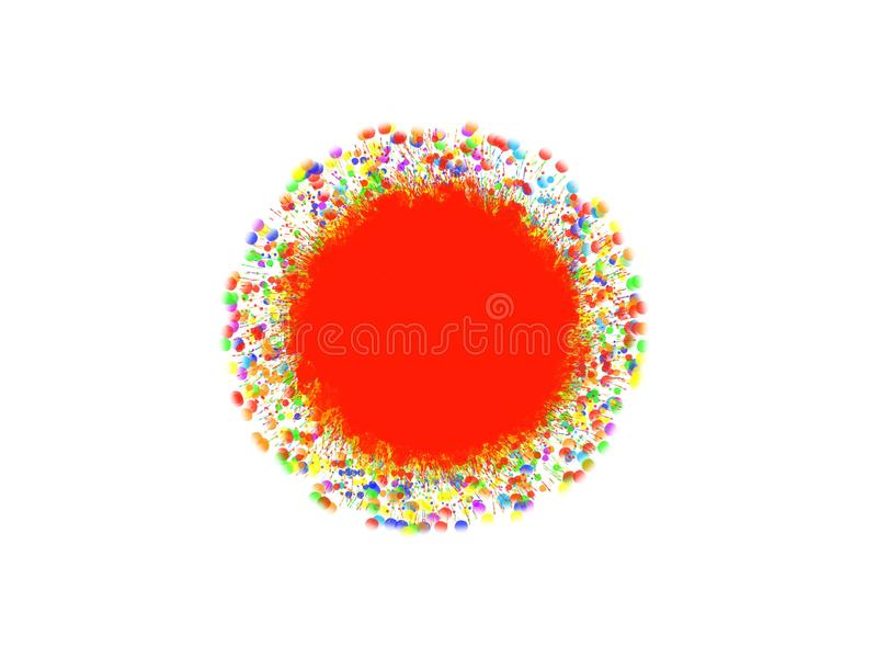 Colorful abstract circle isolate on white background. royalty free illustration