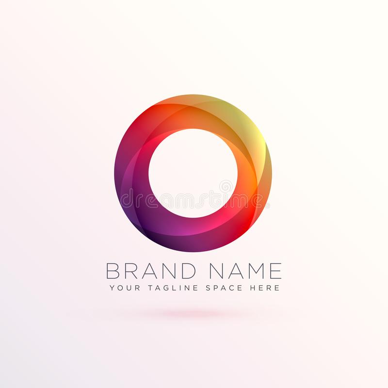 Colorful abstract circle logo design template royalty free illustration