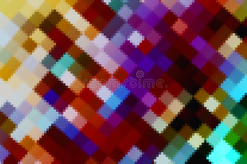 colorful abstract color crystallize art big and small square rainbow tone royalty free stock photography