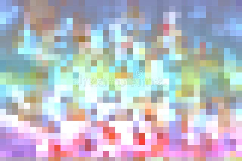 colorful abstract color crystallize art a square rainbow stock images