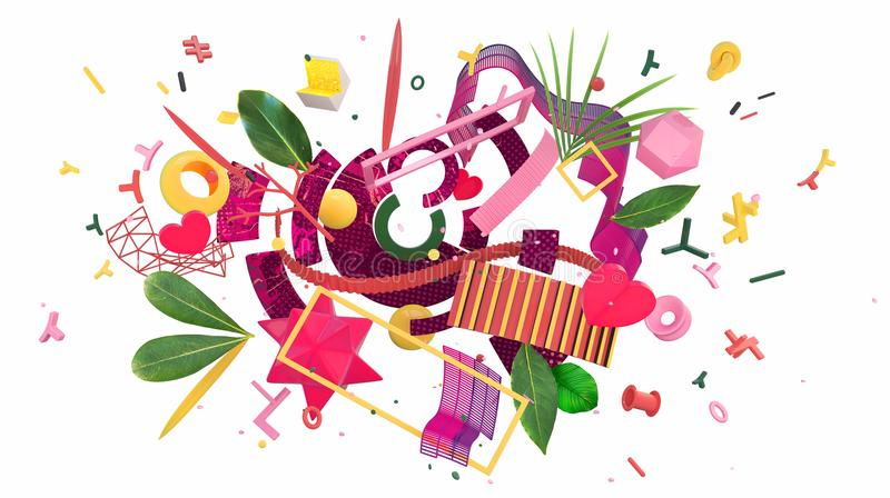 Colorful abstract composition royalty free illustration