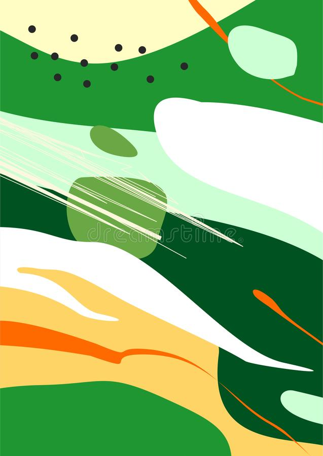 Colorful Abstract Digital Art / Painting / Background / Illustration. Green stock illustration
