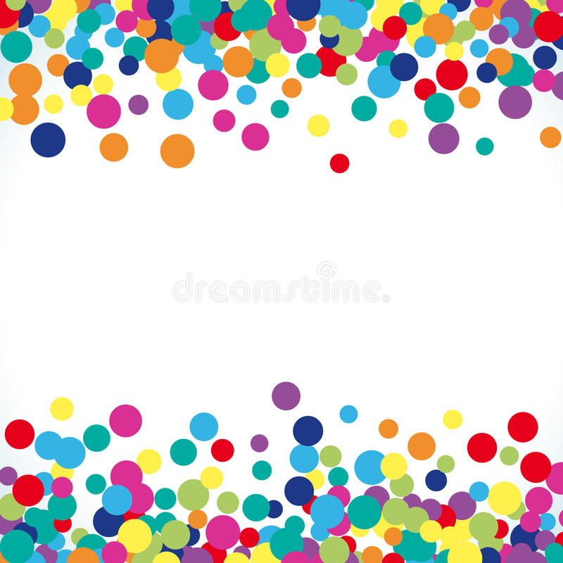 Colorful abstract dot background vector illustration