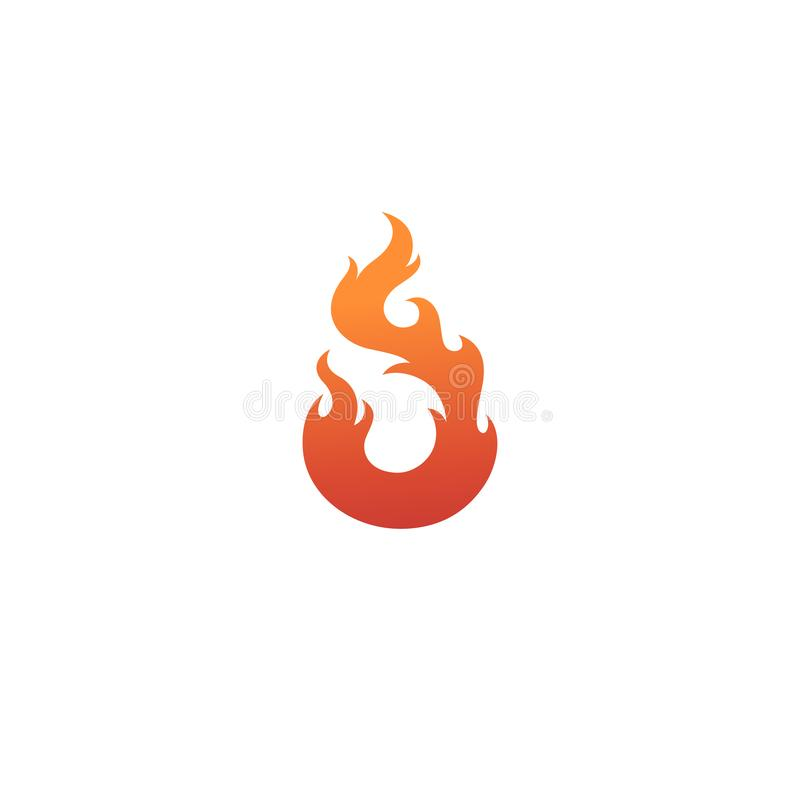Colorful abstract fire logo isolated. Flame red stock illustration