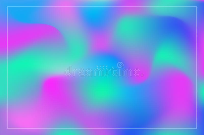 Colorful abstract fluid shapes violet and blue gradient backgrounds royalty free illustration