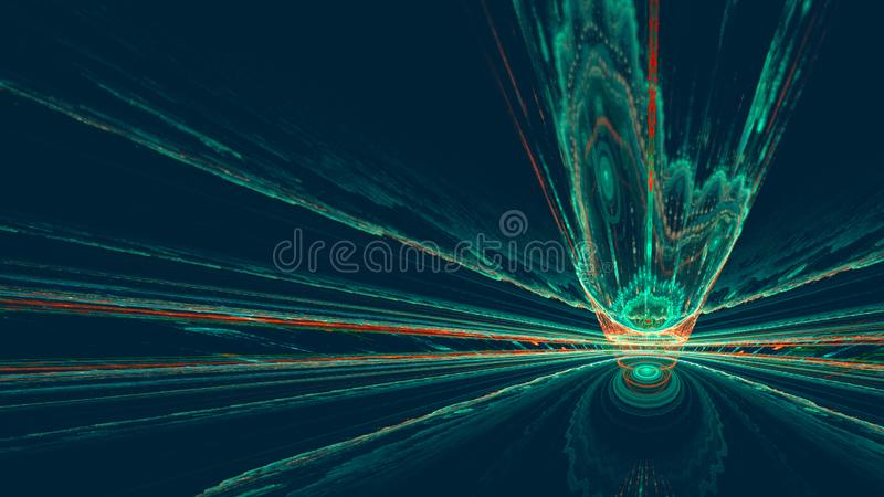 Colorful abstract fractal background on dark blue background.  stock photos