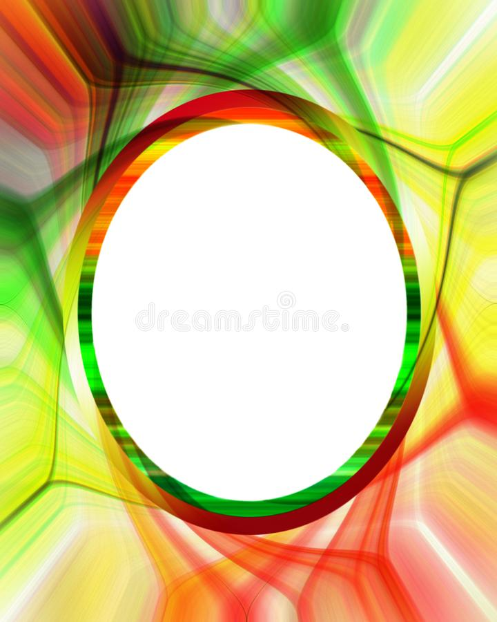 Download Colorful Abstract Frame Or Border Stock Illustration - Illustration of pattern, bright: 9869410