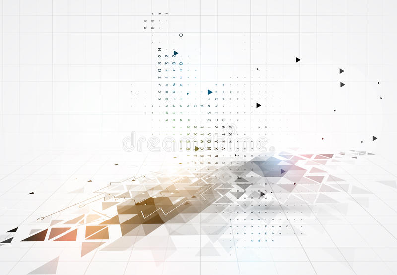 Colorful abstract geometric background for design stock illustration