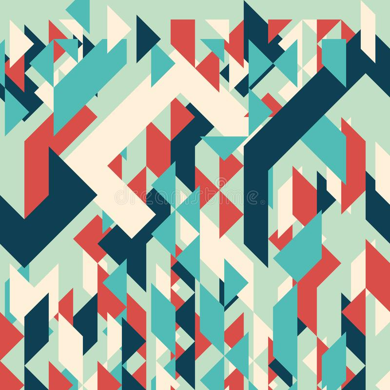 Abstract geometric background. Modern overlapping small triangles. royalty free illustration