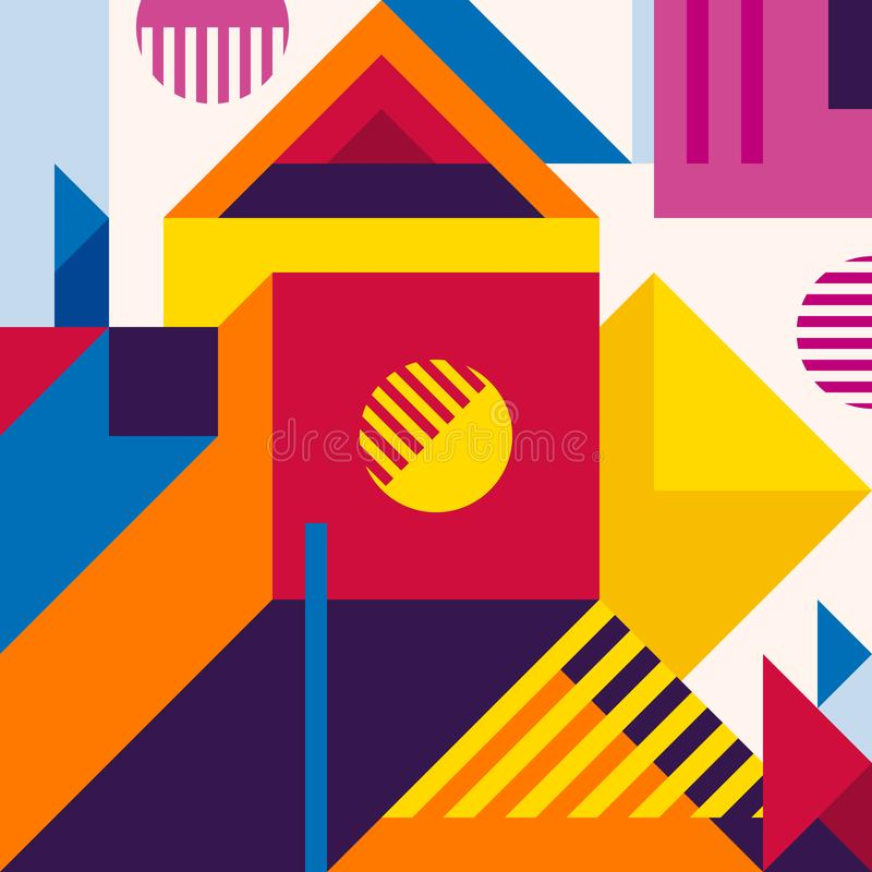 Abstract modern geometric background. Composition 19 royalty free illustration