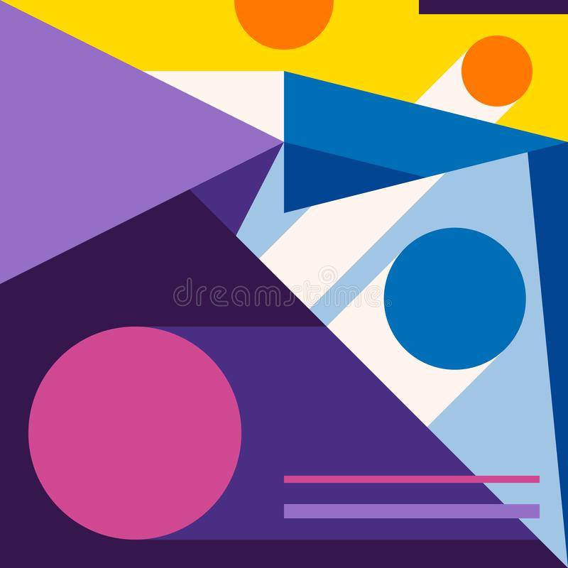 Abstract modern geometric background. Composition 10 stock illustration