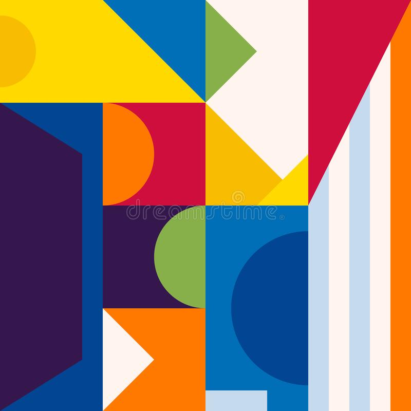 Abstract modern geometric background. Composition 15 vector illustration