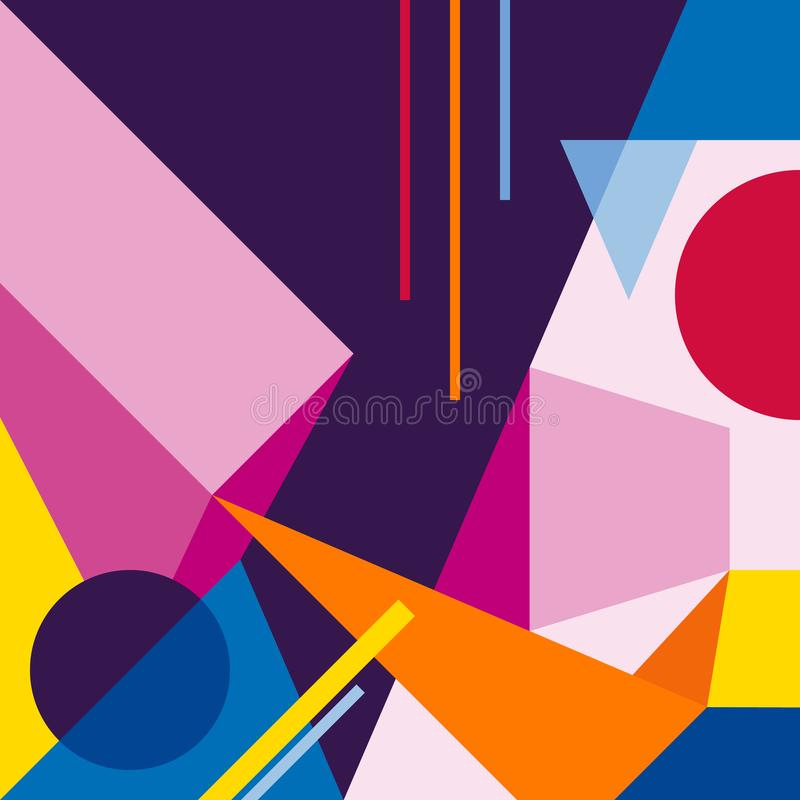 Abstract modern geometric background. Composition 3 vector illustration