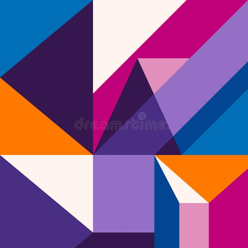 Trendy abstract modern geometric background. Composition 5 vector illustration