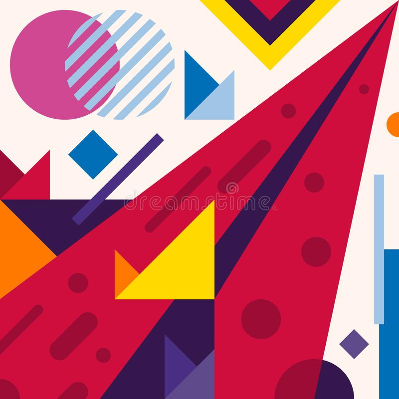 Abstract modern geometric background. Composition 18 vector illustration