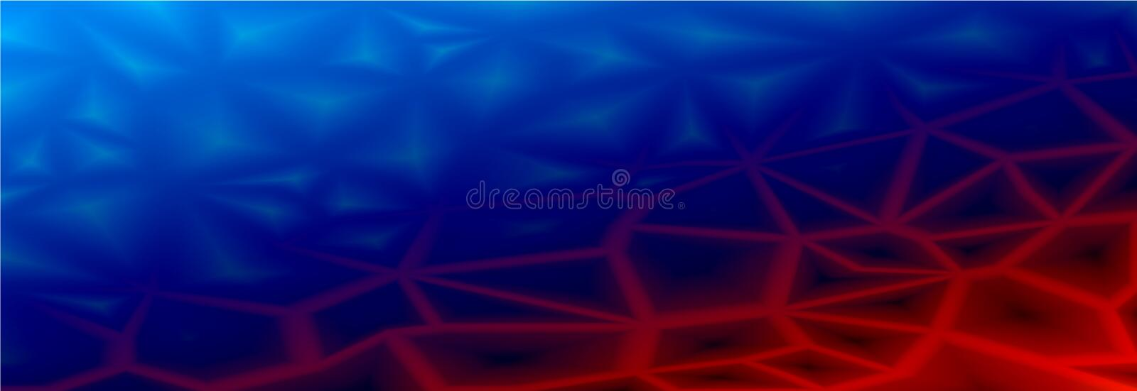 Colorful abstract geometric background with triangular polygonal polygons. From ice blue to fire red. Smooth transition vector illustration