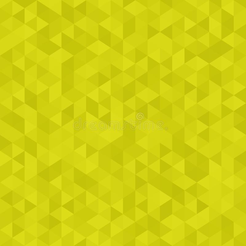 Abstract geometric background, polygonal style in lime green colors. Triangles background. stock illustration