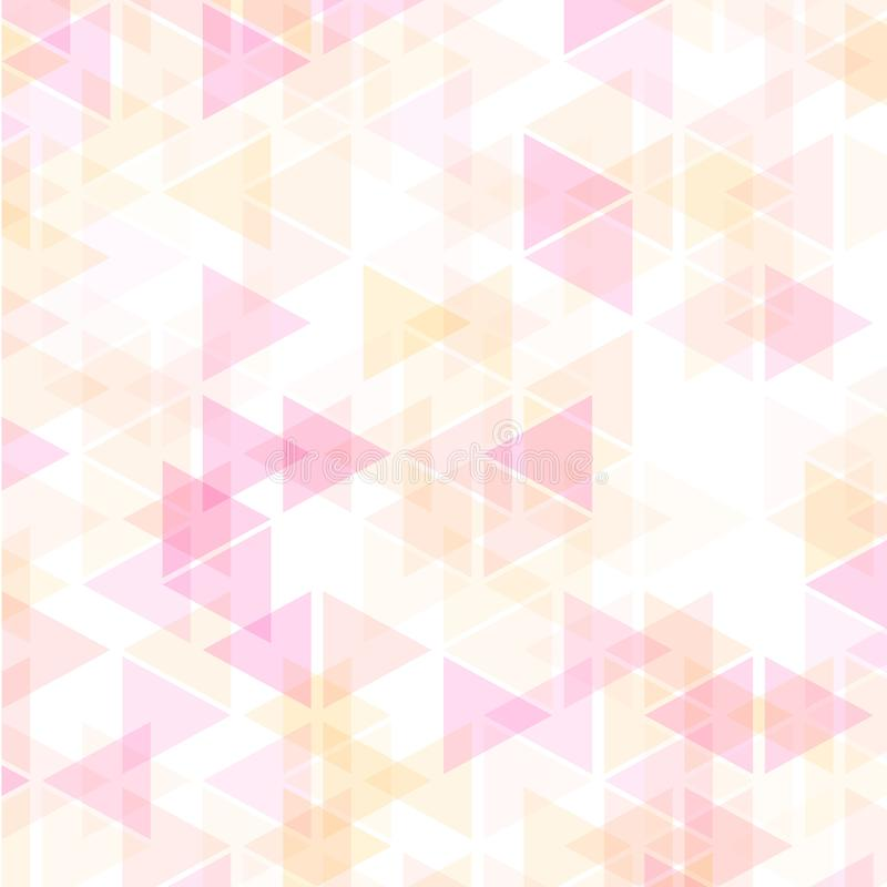 Colorful abstract geometric business background, hot pink and yellow gold orange colors royalty free illustration
