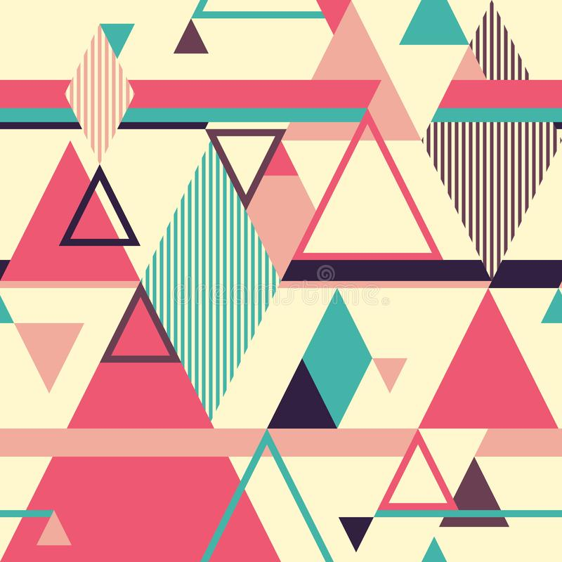 Abstract geometric seamless pattern with triangles. vector illustration