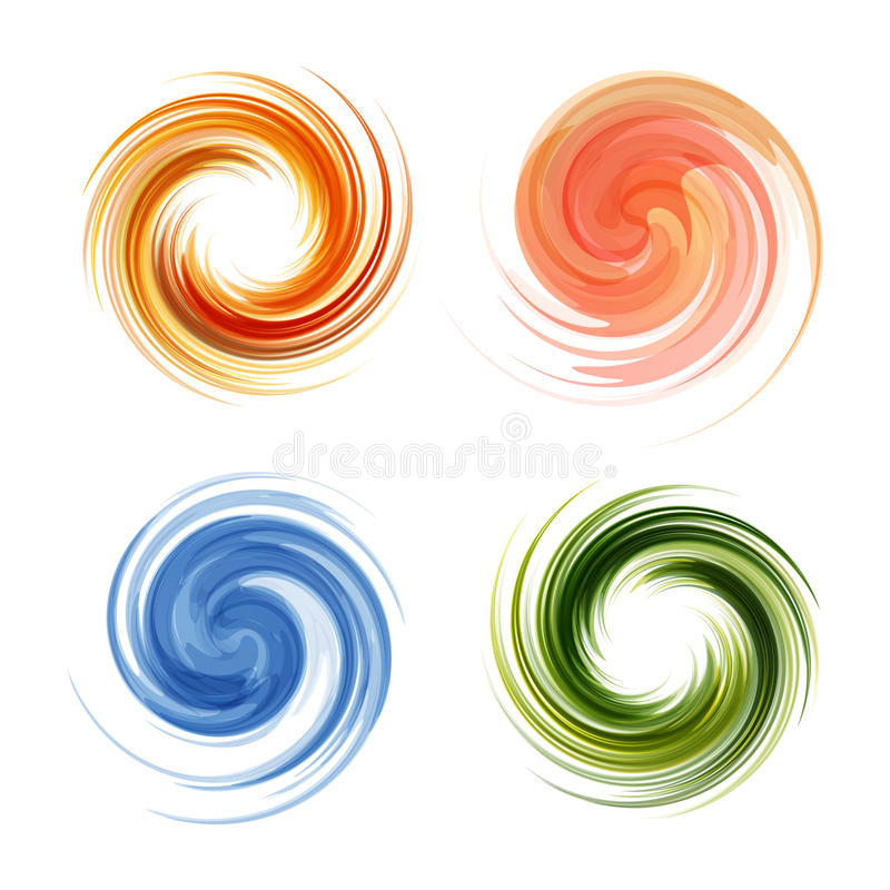 Colorful abstract icon set. Dynamic flow royalty free illustration