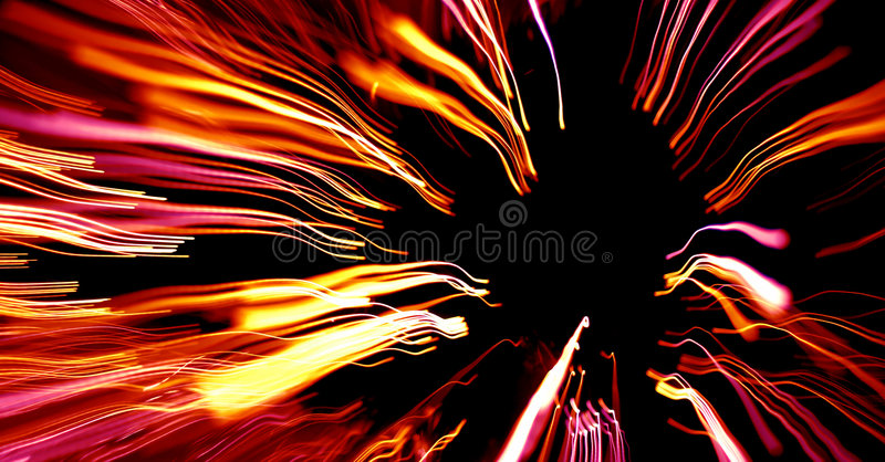 Colorful abstract lines zooming in stock images