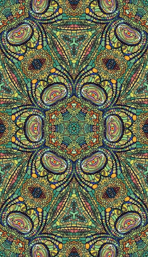 Colorful abstract mandala shapes 3. Pattern of colorful abstract mandala shapes 3 vector illustration
