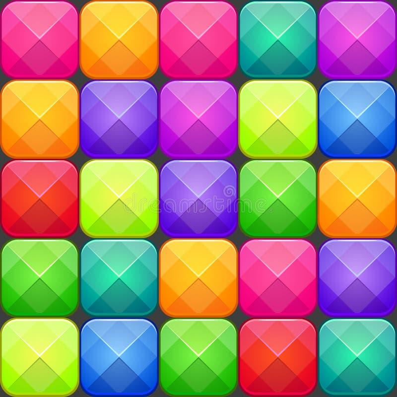 Colorful abstract mosaic seamless pattern. Vector texture. Colorful abstract mosaic seamless pattern. Vector texture with multicolored bright square blocks vector illustration