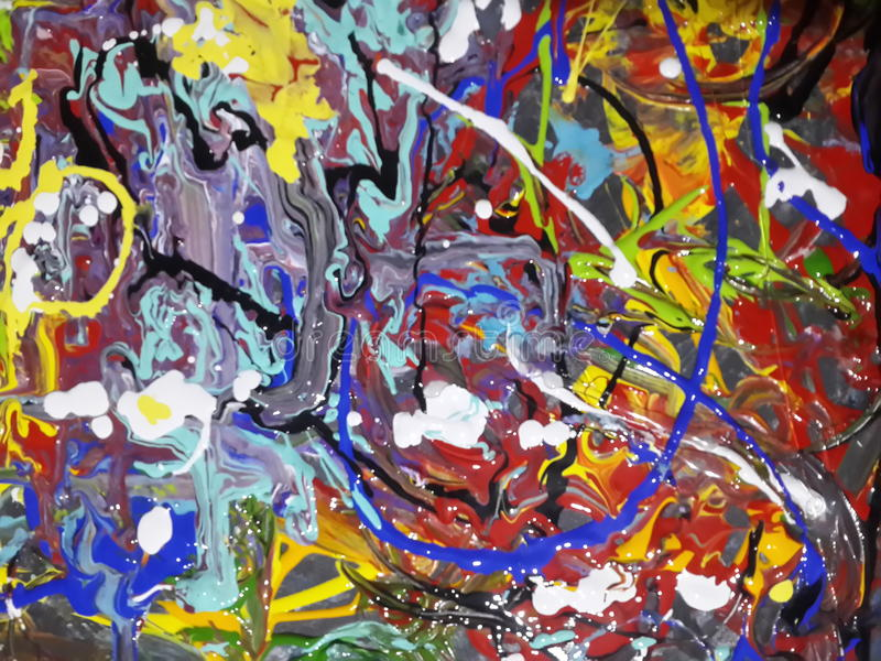 Colorful abstract painting canvas for home design. Acrylic Abstract colorfull painting canvas royalty free stock photos