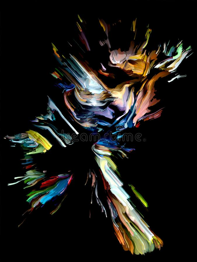 Colorful Abstract Portrait royalty free illustration