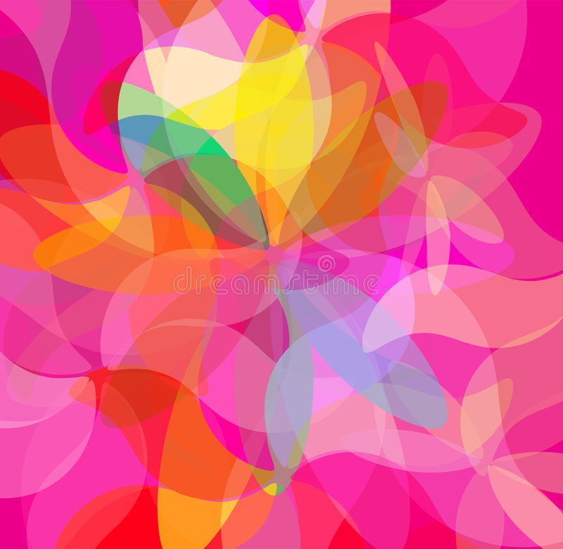 Colorful Abstract Psychedelic Art Background. stock illustration