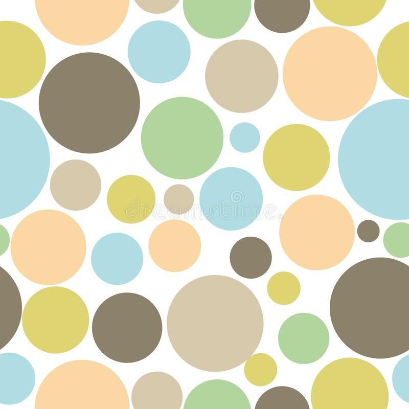 Colorful abstract seamless circle pattern background royalty free illustration