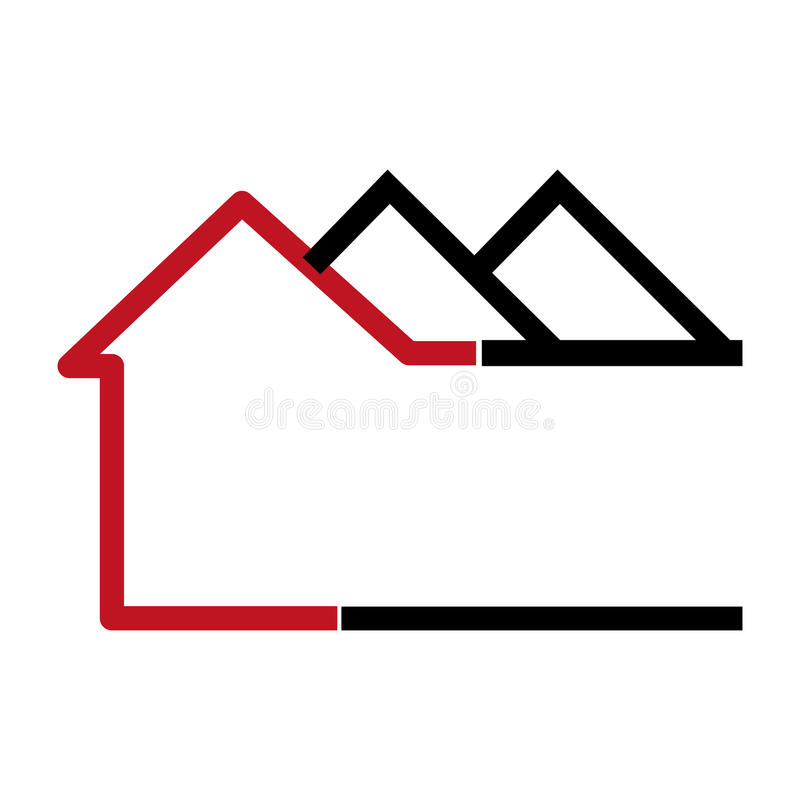 Colorful abstract silhouette apartments icon. Vector illustration royalty free illustration