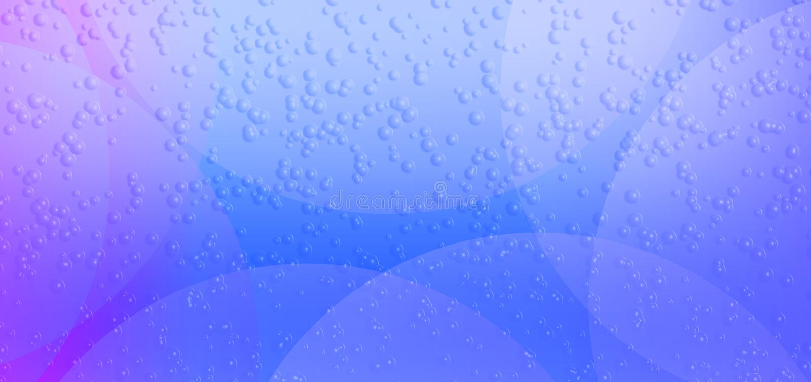 Colorful abstract sky blue color blurred eclipse reflected bubbles textured Background. Many uses for advertising, book page, paintings, printing, mobile royalty free illustration