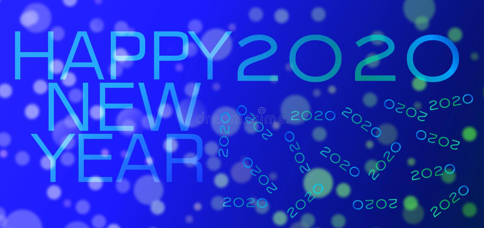 Colorful abstract sky blue color eclipse blurred happy new year Background. Many uses for advertising, book page, paintings, printing, mobile wallpaper, mobile stock illustration