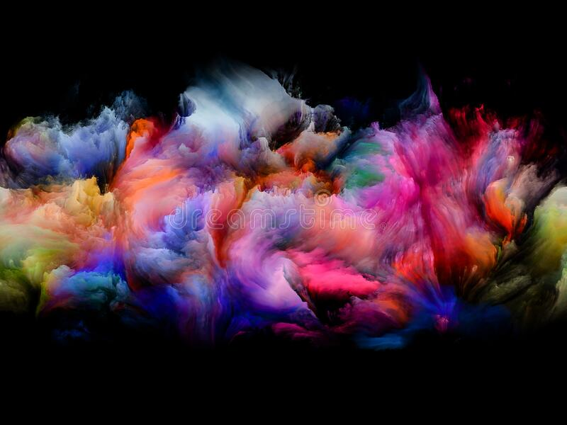 Colorful Abstract Smoke royalty free stock photo
