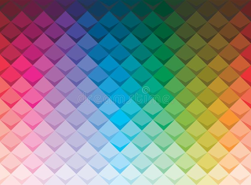 Colorful abstract square background with shadow. vector illustration