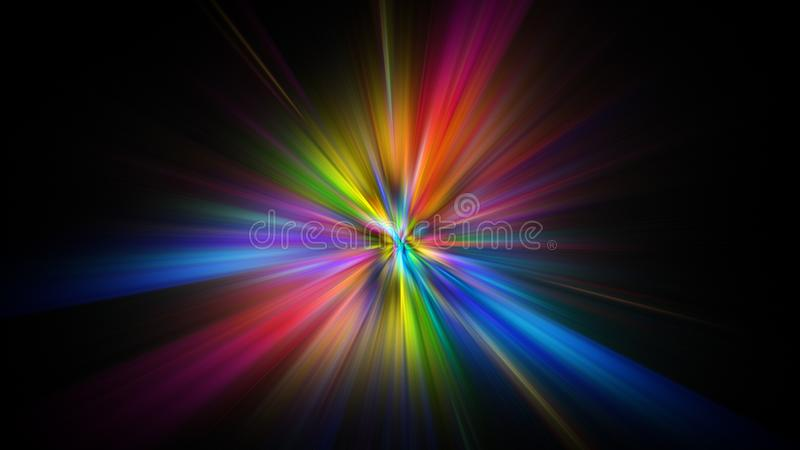 Colorful abstract Star burst light explosion background royalty free stock image