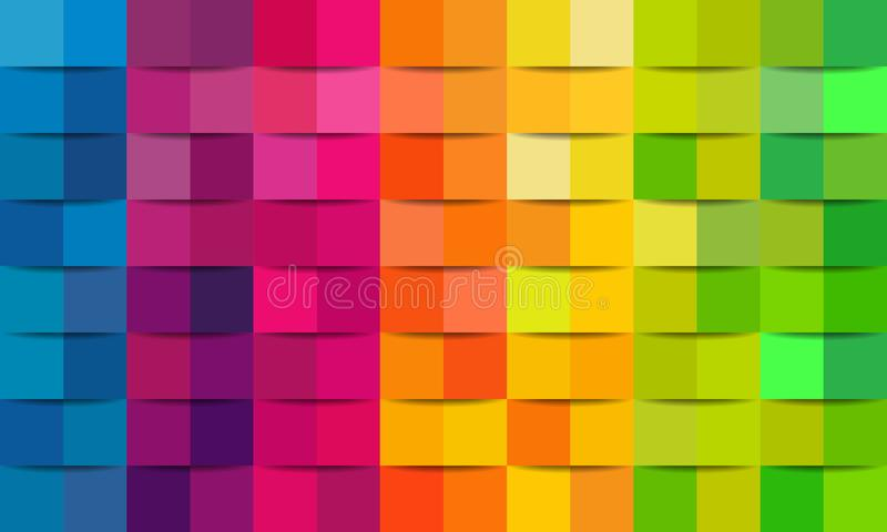 Colorful abstract texture. Vector background 3d paper art style can be used in cover design, book design, poster, cd cover, flyer, royalty free illustration