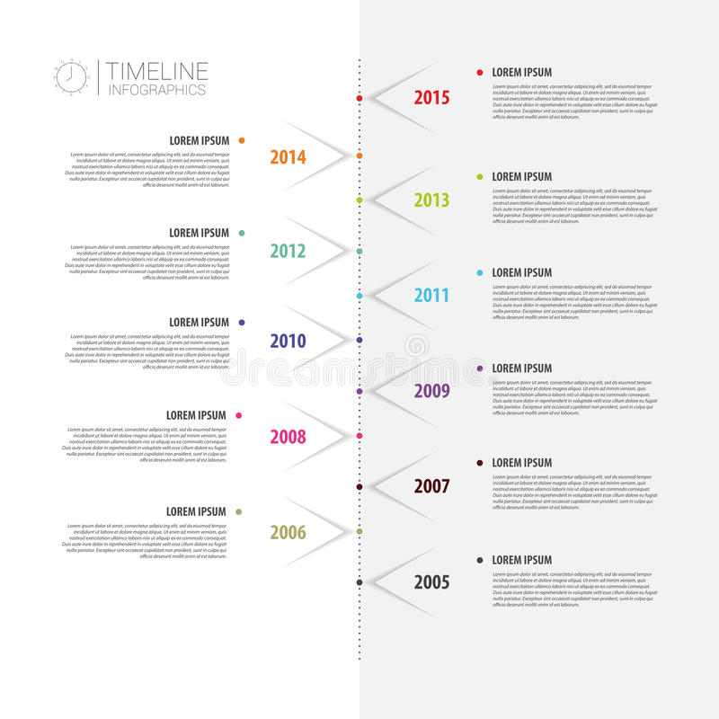 Colorful abstract timeline infographics. Vector illustration royalty free illustration
