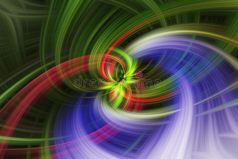 Colorful abstract twirl effect for background royalty free stock images