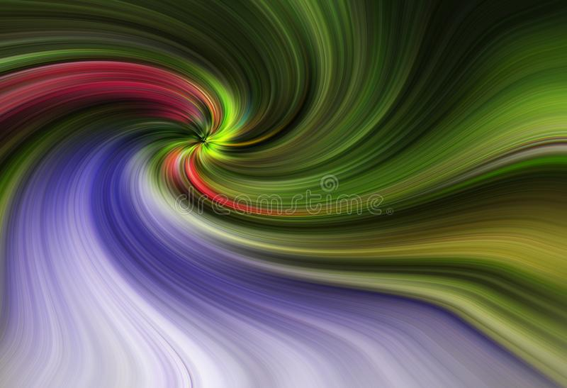 Colorful abstract twirl effect for background royalty free stock image